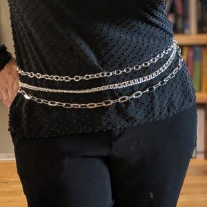 Chico's Accessories - CHICO'S Multi-strand Chain Belt Silver